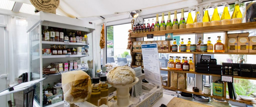 Deli display and artisan bread